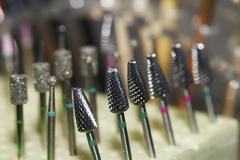 Machine, manicure, tips, pedicure Stock Photos