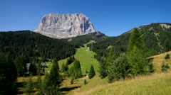 Mountains Langkofel in Dolomites Stock Footage