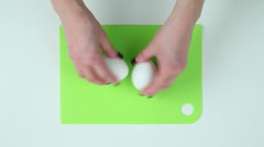 Clear egg from the shell Stock Footage