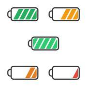 Icon battery charge level Stock Illustration