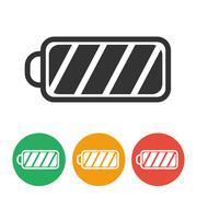 Icon battery charge level - stock illustration