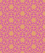 Vintage seamless pattern. Floral ornament with texture. Hand drawn. - stock illustration
