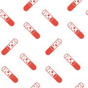 Seamless pattern with a test tube and bubbles. The topic of science and medic - stock illustration