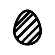 Icon Easter eggs without color. Holiday icon. - stock illustration