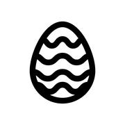 Icon Easter eggs without color. Holiday icon. Stock Illustration
