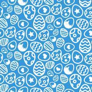 Seamless pattern of Easter eggs icon holiday background Stock Illustration