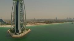 Aerial View of Burj Al Arab Stock Footage