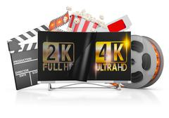 TV and film strip Stock Illustration