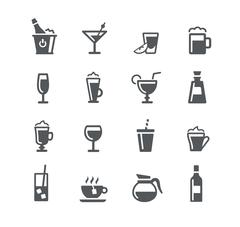 Drinks Icons - Utility Series - stock illustration