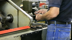 Equipment In Fabrication Machine Shop Stock Footage