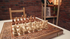 Overview on a chessboard. Slider shoot. - stock footage