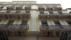 100p neoclassical beautiful building ,Athens,low angle steadicam shot - stock footage