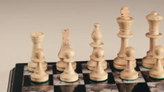 Overview on a chessboard. Close up. Slider shoot. - stock footage
