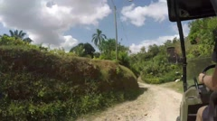 Timelapse of driving an ATV through a small town in the mountains of Panama - stock footage