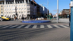 Walking around in the area near Helsingborg Central Station in Sweden Stock Footage