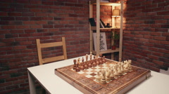 Overview on a chessboard. Slider shoot. Stock Footage