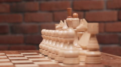 Overview on a chessboard. Close up. Slow motion - stock footage