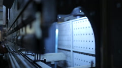 automatic machine for bending metal - stock footage