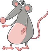 Rat or mouse cartoon animal Stock Illustration