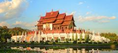 Royal Flora Ratchaphruek Park, Chiang Mai Stock Photos