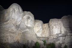 Mount Rushmore at Night - stock photo