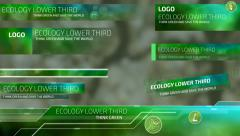Ecological Lower Thirds Stock After Effects