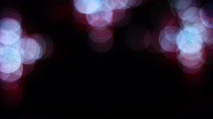 Blurred footage of bokeh lights for a background, defocused picture of abstract - stock footage