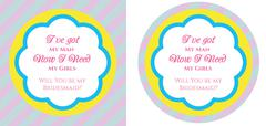 Bridesmaid invitation - stock illustration