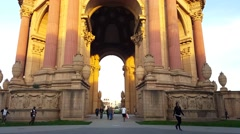Palace of Fine Arts Museum in San Francisco, California - stock footage