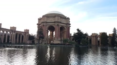 Palace of Fine Arts Museum in San Francisco, California Stock Footage