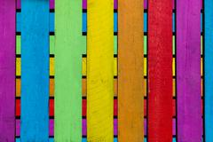 Boards in different colors Stock Photos