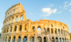 Defocused background of the Flavian Amphitheatre, aka Colosseum, Rome, Italy - stock photo