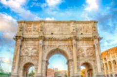 Defocused background with Arch of Constantine, Rome, Italy - stock photo