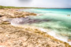 Defocused background of beach near Gallipoli in Salento, Apulia, Italy Stock Photos