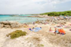 Stock Photo of Defocused background of beach near Gallipoli in Salento, Apulia, Italy