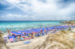 Defocused background of beach near Gallipoli in Salento, Apulia, Italy Stock Photos