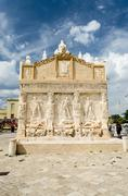Stock Photo of Greek Fountain, iconic landmark in Gallipoli, Apulia, Italy