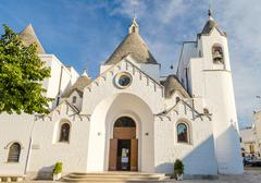 The Trullo church in Alberobello, Apulia, Italy - stock photo