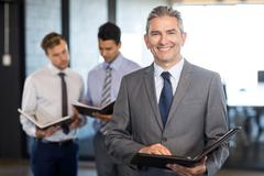 Close-up of businessman with his organizer Stock Photos