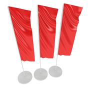 Flag Blank Red Expo Banner Stand. - stock illustration