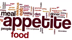 Stock Video Footage of Animated appetite meal food word cloud text animation
