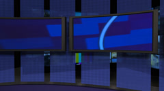 AnimSet 005 Left Shot Screens with Desk Animated Stock Footage