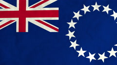 Cook Islander flag waving in the wind (full frame footage) Stock Footage