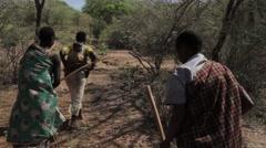 3 Africa ladies walking Stock Footage