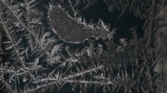 Frost pattern on glass Stock Footage