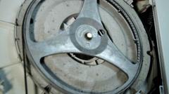 Spinning washing machine drum Stock Footage