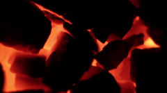 hot coals in a furnace - stock footage