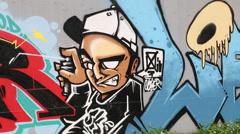 Taiwanese graffiti Stock Footage