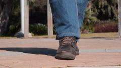 Man has abnormal trot gait Stock Footage