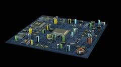 Seamlessly looping animation of an electronic board Stock Footage